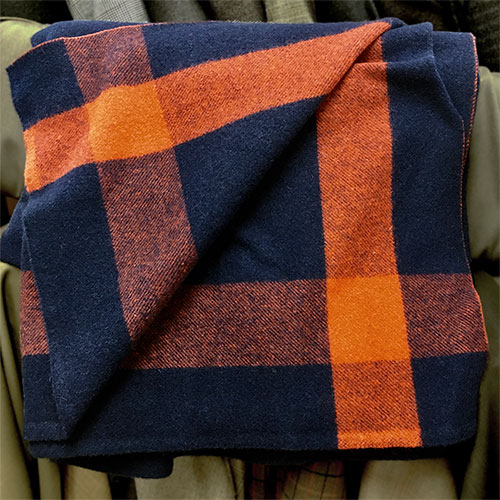 Needle & Thread Calvary Wool Blanket Navy Brick